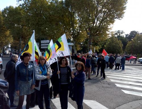 Grève et manifestation interprofessionnelle du 9 octobre 2018 à Agen